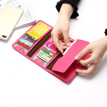 Woman Elegant 18 Card Slots Multi-card slots Card Bag Foldable Wallet Purse