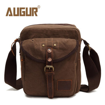 Men Canvas Casual Crossbody Bag Business Shoulder Bag