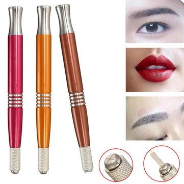 Double-heads Embroidered Tattoo Eyebrow Pencil Pen Semi-permanent Makeup  Tools