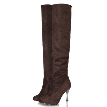 Women Casual Over The Knee Stretch Shoes Thin Heel Boots