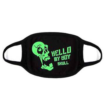 Cotton Kpop Skull Style Face Mouth Mask Luminous Fluorescence Dust Mask