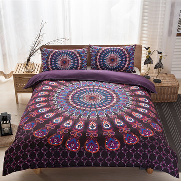 Buy Indian Mandala Queen Size Galaxy Bedding Quilt Doona Duvet Cover Set 2 Body Pillow Covers