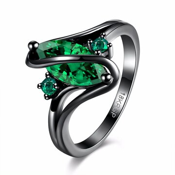 Retro Women Ring Oval Zircon Luxury Ring