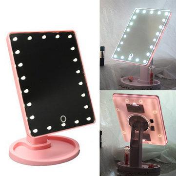16 светодиодных сенсорных экранов Косметический зеркальный макияж инструмент Регулируемая 360 градусов вращения тщеты Зеркала