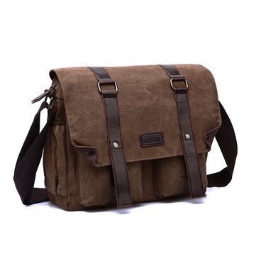 Men Canvas Large Capacity Shoulder Bag Messenger Casual Crossboby Bag