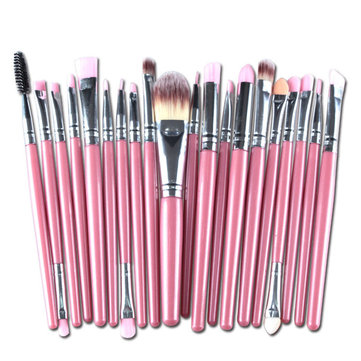 20Pcs Pink Handle Wool Brush Set