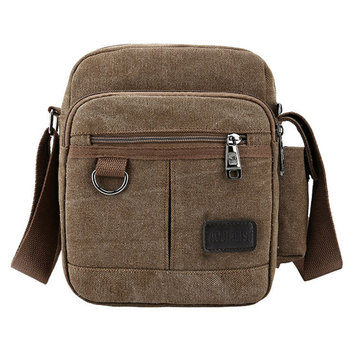 Men Canvas Casual Shoulder Bags Outdoor Sports Travel Crossbody Bag