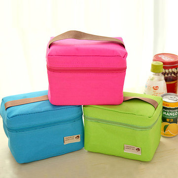 600D Oxford Waterproof Lunch Bag Hand-held Insulation Bags Outdoor Picnic Food Storage Container
