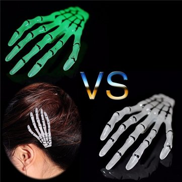 Halloween Christma Hairpin Pins Skeleton Claws Skull Hand Hair Clip Barrettes