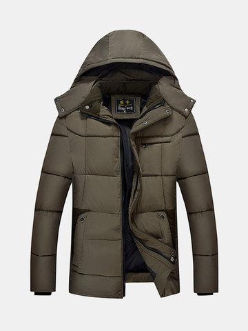 Повседневная утолщенная водонепроницаемая многокамерная съемная куртка для мужчин