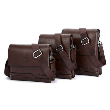 Men PU Leather Crossbody Bag Business Bag Messenger Bag