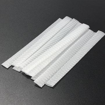 10Pcs белые косметические щетки Pen Guard Sheath Mesh Protectors Cover