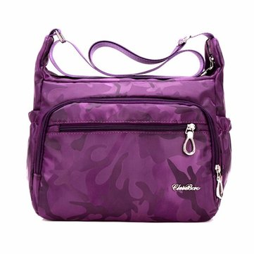 Women Nylon Waterproof Camouflage Multi-pocket Shoulder Bags Crossbody Bags