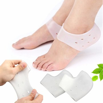 1 Pair Soft Silicone Heel Socks Moisturizing Feet Skin Care Anti Crack Control Foot Protector
