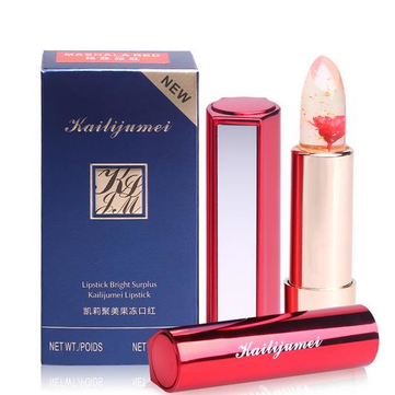 Kailijumei Flower Jelly Lipstick Temperature Change Color Lip Balm With Mirror 4 Colors
