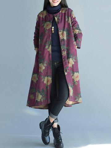 Manteau à mouche tactile imprimé décontracté pour femmes