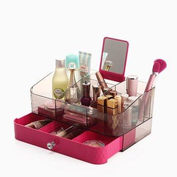 Acryl Make-up Organizer Schublade Box Kosmetik-Aufbewahrung Schreibtisch Badezimmer-Gehäuse Blau Lila Rot