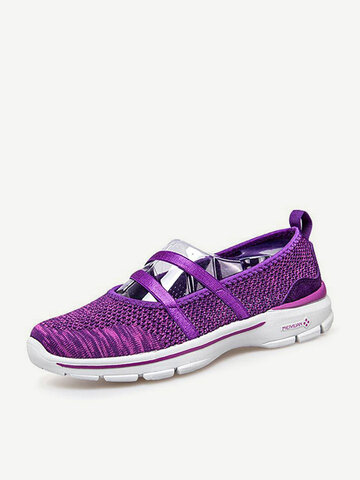 Pure Color Hollow Out Comfortable Flat Casual Shoes For Women