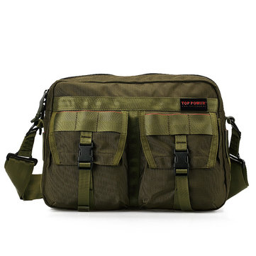 Men Nylon Outdoor Jungle Crossbody Bag Multi-pocket Shoulder Bag