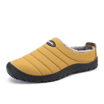 Chaussons Confortables Nues en Arrière Chaussures Chaudes Doublure en Fourrure Pointure Large