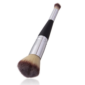 1Pc Double-sided Loose Powder Makeup Brush Foundation Blush Beauty Cosmetic Tool