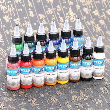 14 цветных бутылочных профессиональных татуировочных чернил тонкой прочной текстуры быстрого пигментного набора