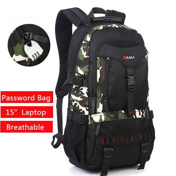 Casual Waterproof Climbing Traveling Knapsack Bag 35L Coded Lock Free #2020 Backpack