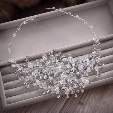 Bridal Crystal Rhinestone Party Headband Tiara Clear Hair Accessories