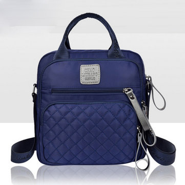 Women Nylon Backpack Portable Handbag Little Square Satchel Bag
