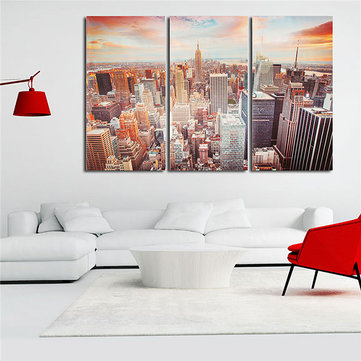 New York City Skyline Canvas Print Wall Art Colorful Picture Bedroom Living Room Home Office Decor