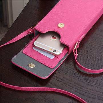 Women Stylish Portable 6inch Phone Bag Wallet For iPhone Samsung Xiaomi Huawei Sony