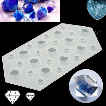 DIY Silicone Mold Diamond Tool Pendant Making Jewelry Hand Craft Mold