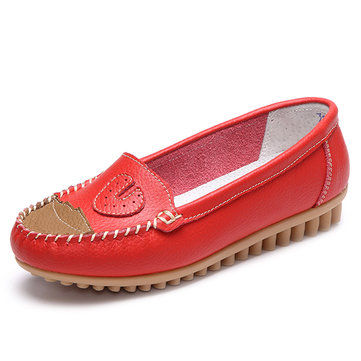 Splicing Moccasins Driving Casual Flat Loafers For Women