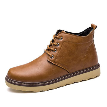 Men's Classic 8 Metal Eyelets Lace Up Ankle Casual Work Boots