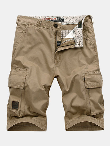 Casual Vintage Multi-Pocket Sport Fifth Cargo Shorts para Homens
