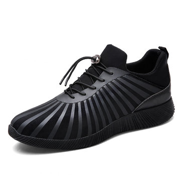 Men Adjustable Buckle Non-slip Breathable Stretch Fabric Sport Casual Sneakers