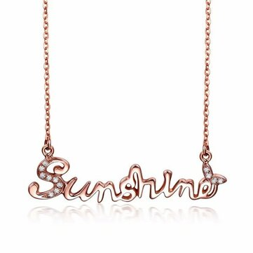925 Sterling Silver Sunshine Letter Pandent Necklace