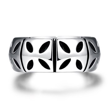 Men's Vintage Punk  Prismatic Stainless Steel Ring