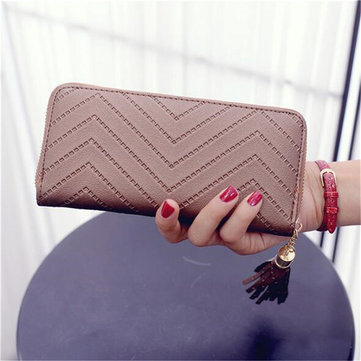 Women Lady PU Leather Clutch Wallet Long Card Holder Case Purse