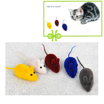 False Mouse Funny Cat Toy Little Mouse Realistic Sound Squeak Kitten Play