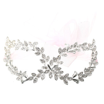 Halloween Party Masquerade Alloy Rhinestone Mask