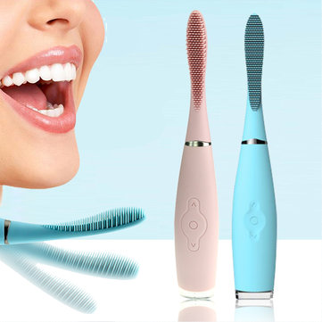 Rechargeable Silicone Electric Waterproof Toothbrush Whitening Deep Clean Adults Kid USB Line