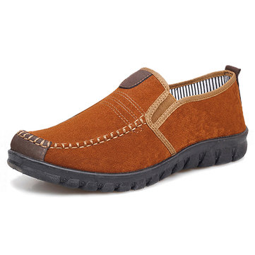 Men Old Peking Style Fabric Breathable Slip On Casual Shoes
