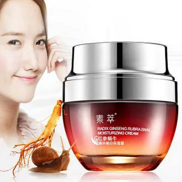 Sucui Red Ginseng Snail Cream Moisturizing Anti Acne Wrinkle Aging