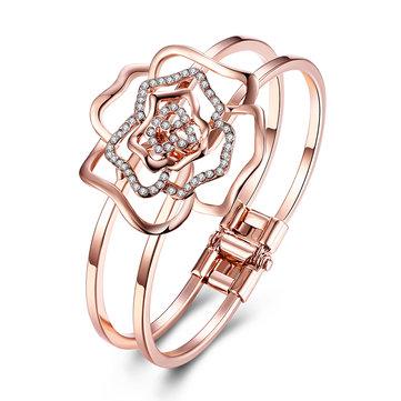 INALIS Модные розовые позолоченные браслеты с пирсингом из антиаллергической ткани
