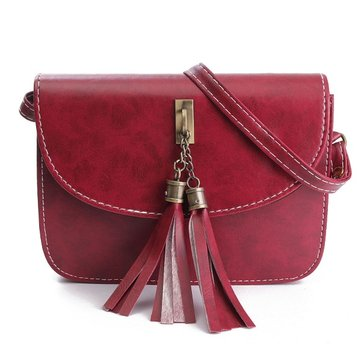 Women Elegant Shoulder Bag Tassel Casual Vintage Crossbody Bag