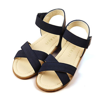 Girls Summer Sandals Princess Dress Shoes Kids Roman Shoes Children Casual Flats