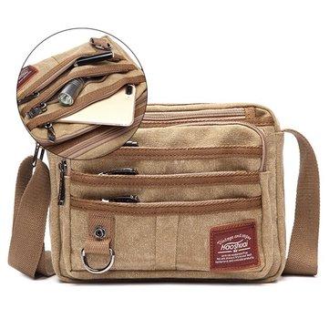 Multi Pocket Canvas Outdoor Casual Men Bag