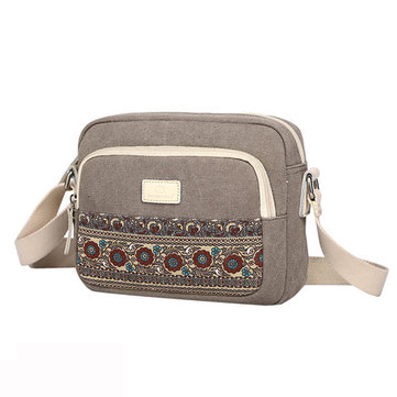 Women Retro Shoulder Bag Crossbody Bag Vintage Canvas Sling Bag