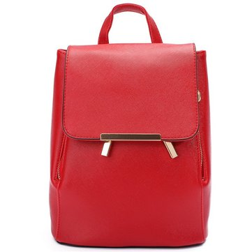 Women Candy Color Casual Backpack Travel Leisure Backpack